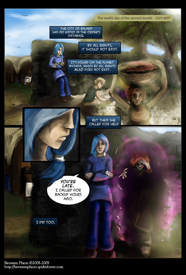 Chapter one, page one: A wizard is nev--oh.