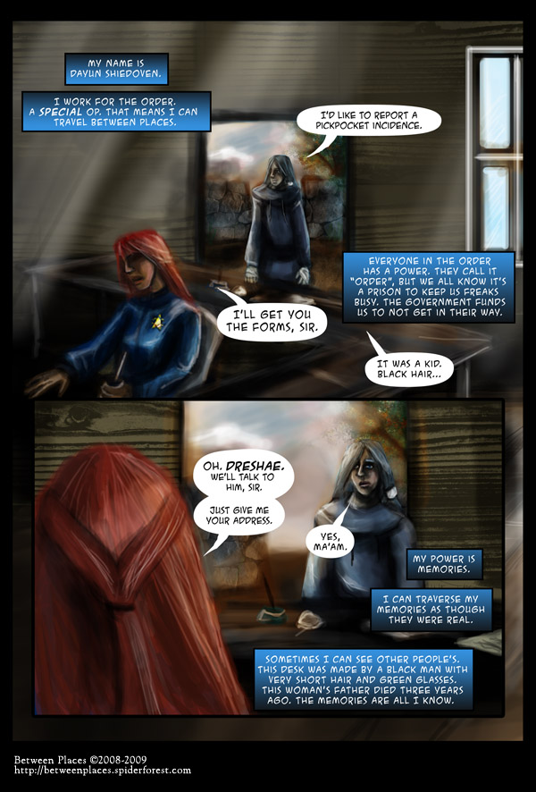 Chapter one - page thirteen - make a report